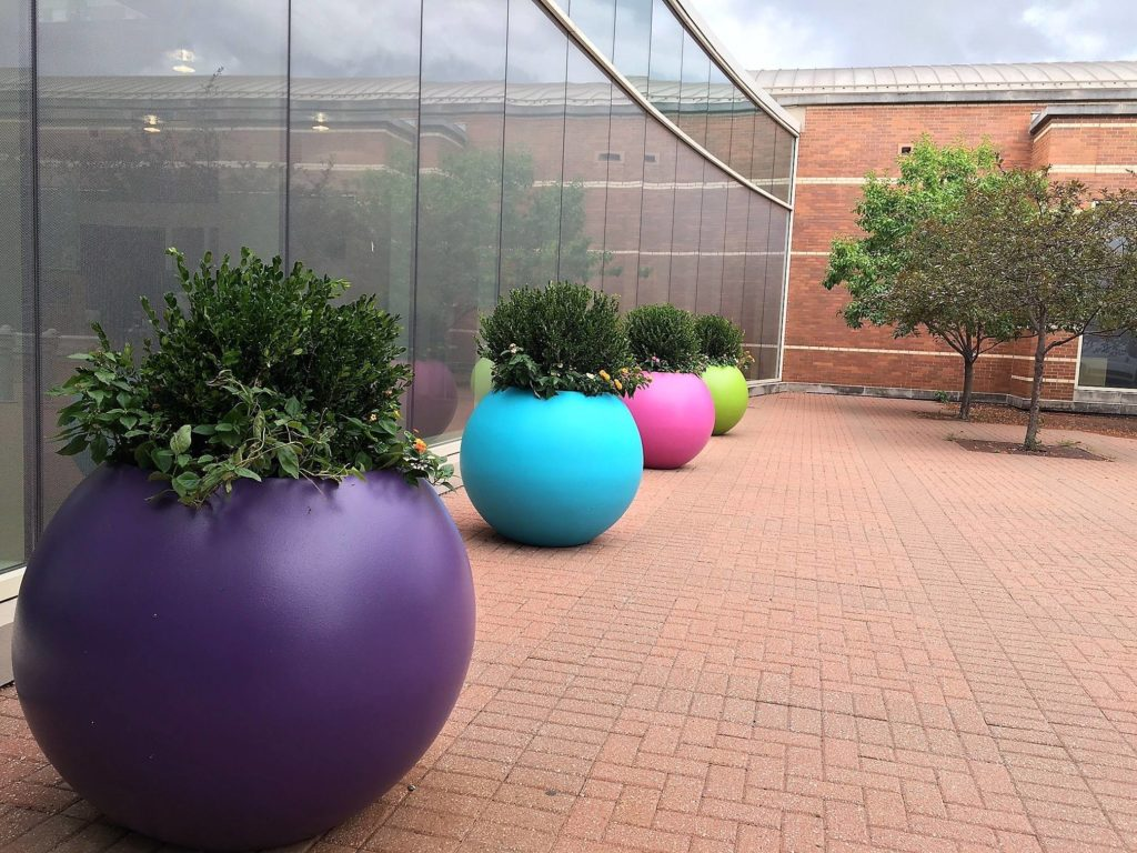 Colorful Old Town Fiberglass Planters